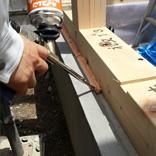 防蟻処理・気密処理:基礎と土台の隙間防蟻用ウレタンフォーム