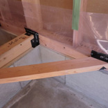 気密処理:気密シートと木部取り合い